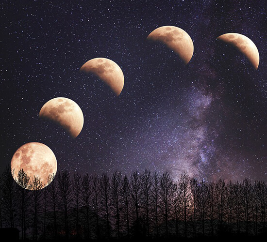 The eight phases of the moon