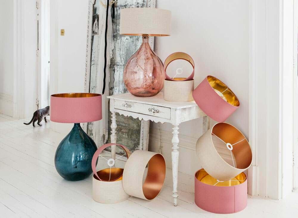 Lamp Shades Light Diffusers, Small Fuschia Lamp Shade