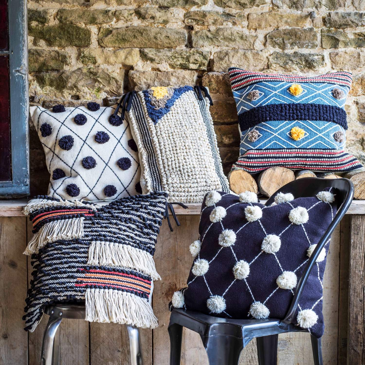 Handcrafted Boho Cushions Graham Green