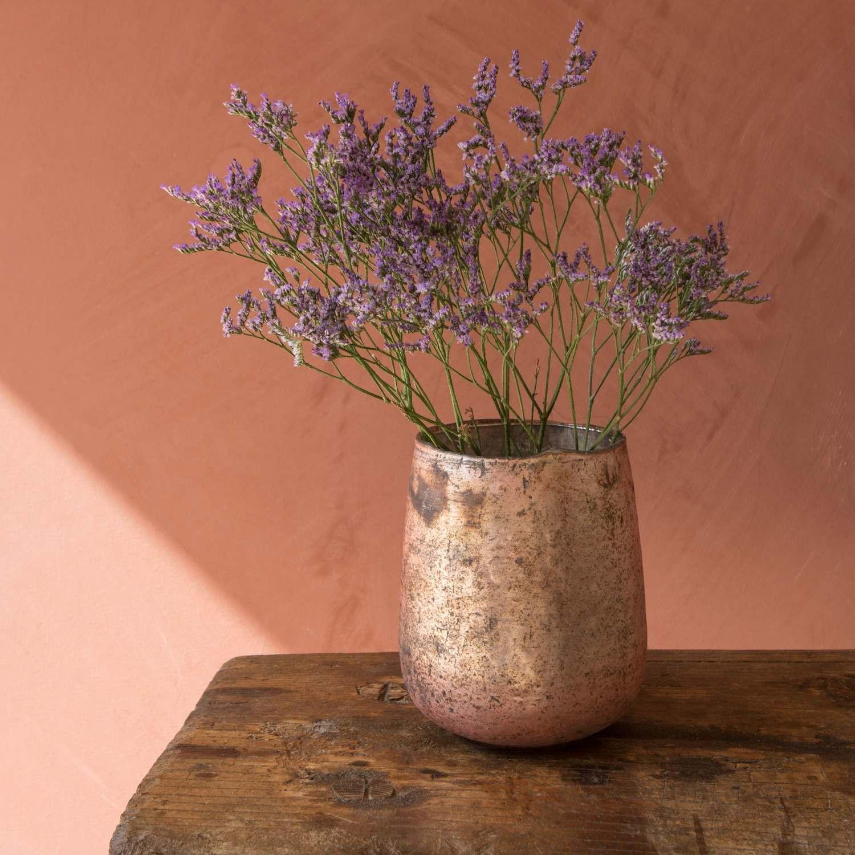 Antiqued Rose Gold Vase