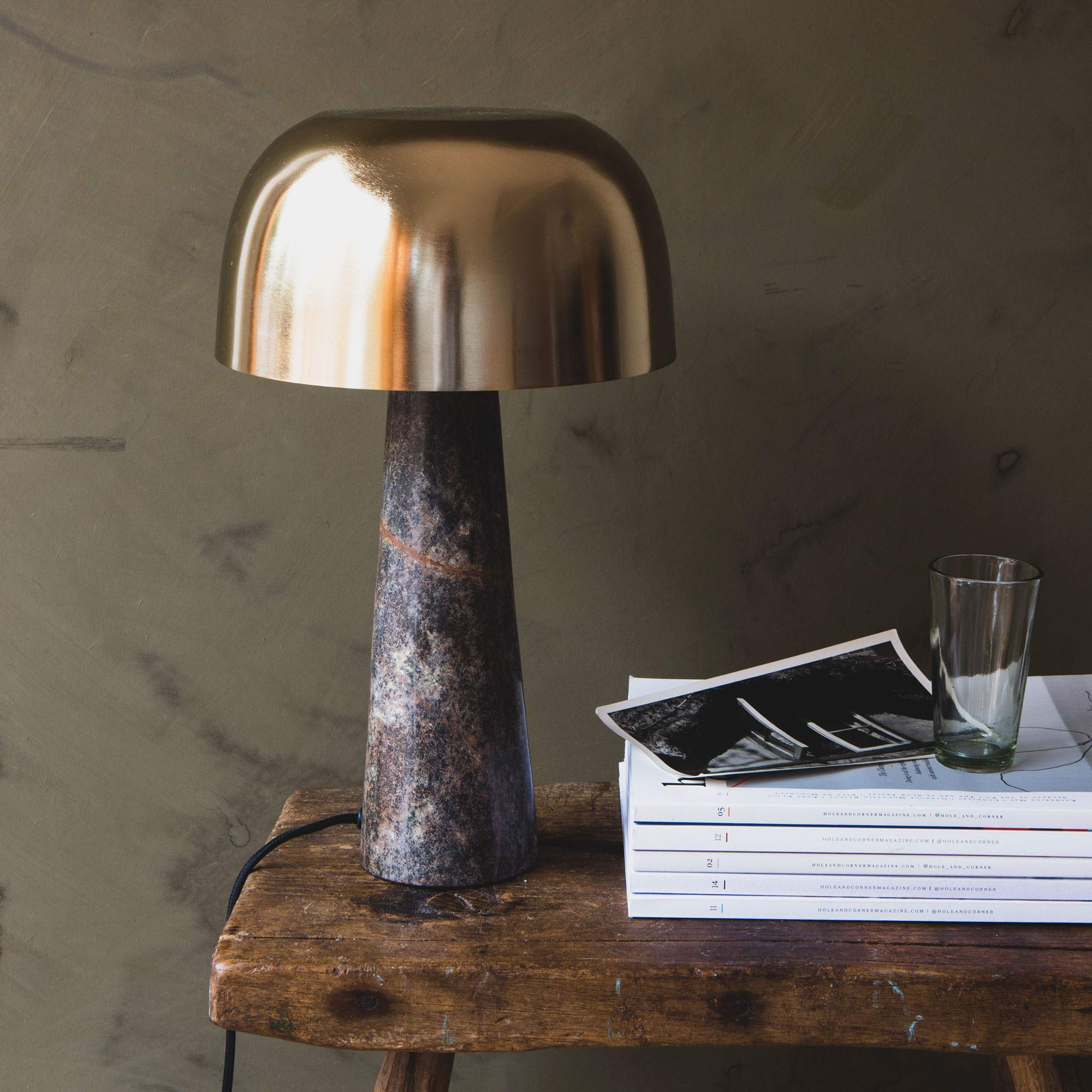 Marble Table Lamp Marble & Brass