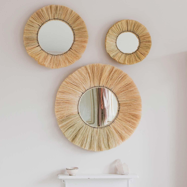 Kula Grass Round Mirrors Graham Green