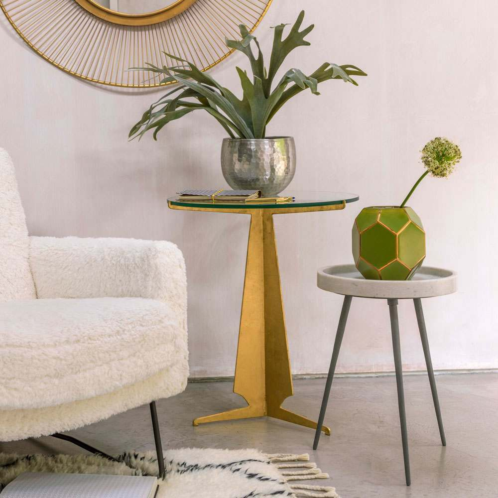 Amari Gold Round Side Table