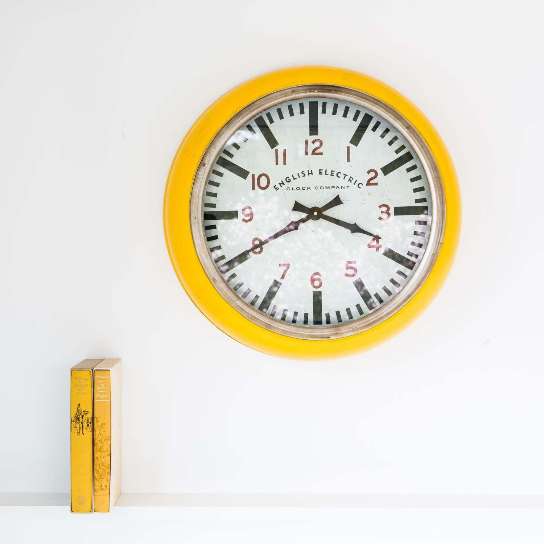 Large Yellow Wall Clock Graham Green