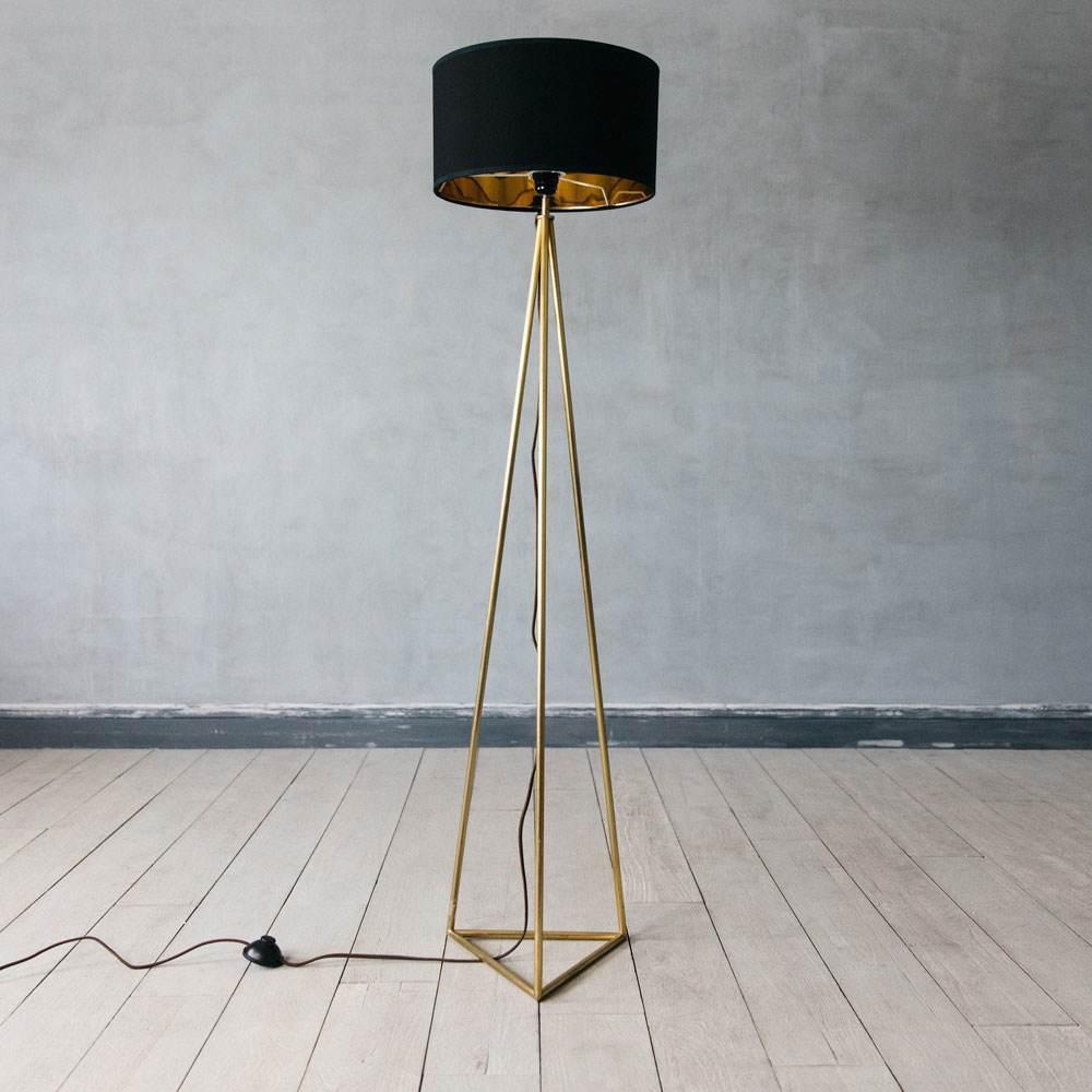 Leopold Brass Floor Light