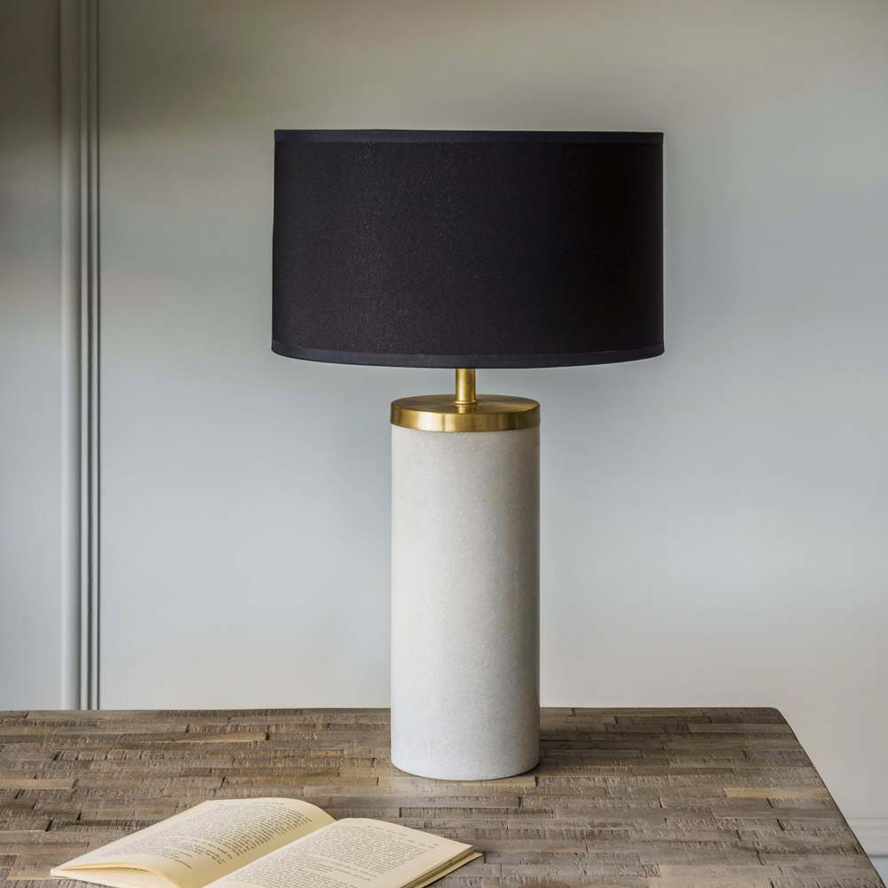 Ernst Marble And Metal Bedside Table Lamp