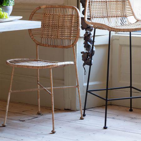 Ola Graphic Weave Rattan Chair