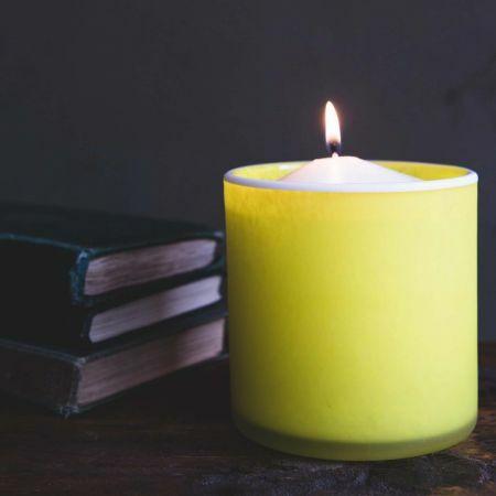 Lemon Yellow Tea Light Holder