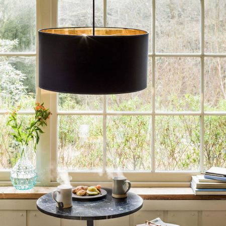 Black And Gold Pendant Shade