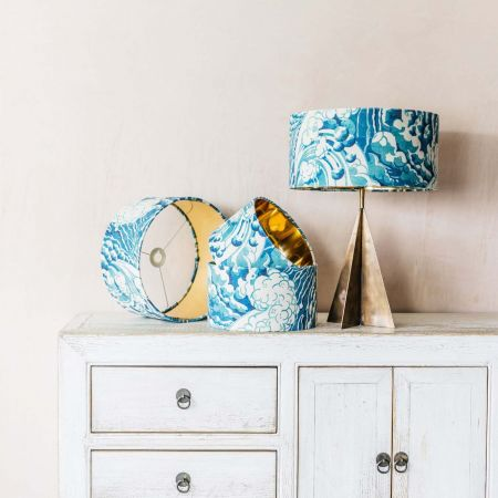 Wave Velvet Lamp Shades