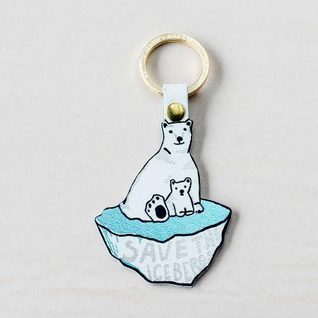 Save the Icebergs Keyring