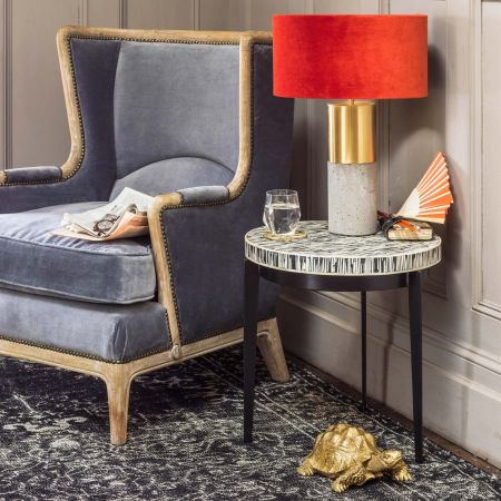 Malique Bone Side Table