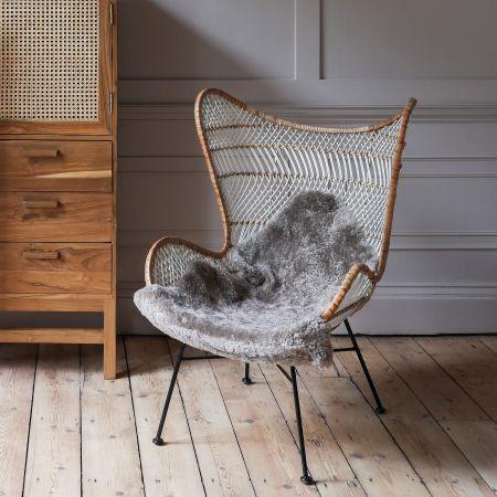 Oslow Mini Winged Wicker Chair