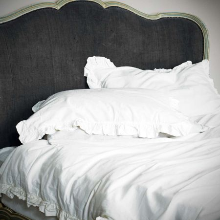 Set of Two Siena White Ruffle Pillowcases - Thumbnail