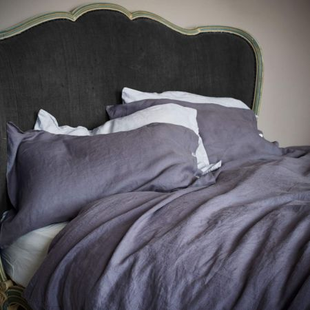 Oslo Pewter Linen Bed Linen - Thumbnail
