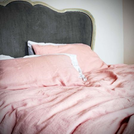 Set of Two Oslo Blush Linen Pillowcases - Thumbnail