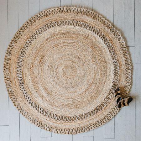 Large Round Natural Jute Rug
