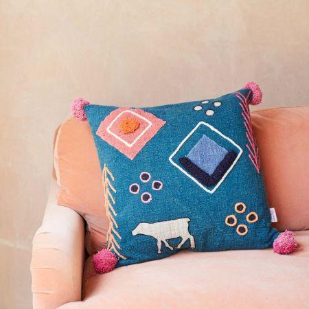Mandu Tribal Cow Cushion