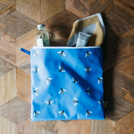 Blue Bee Wash Bag