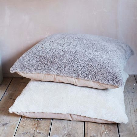 Curly Sheepskin Floor Cushions - Thumbnail