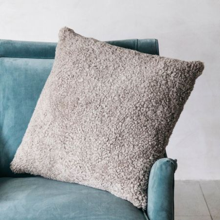 Curly Sheepskin Square Cushions