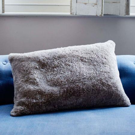 Curly Sheepskin Rectangular Cushions