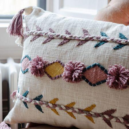 Jaz Rectangular Cushion With Tassels