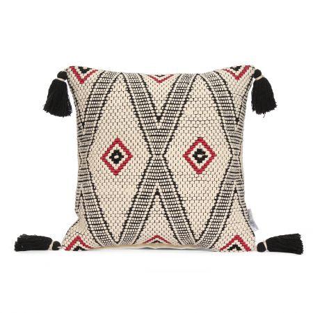 Imari Square Cushion with Tassels