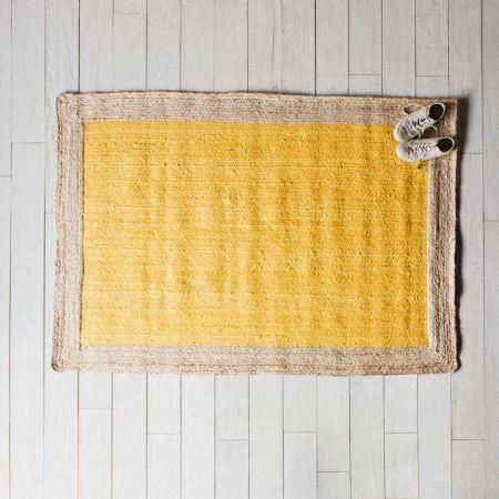 Large Khari Yellow Jute Rug