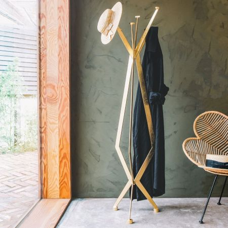 Cadie Gold Coat Stand