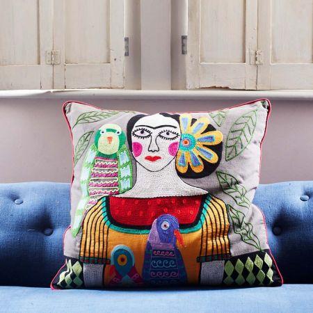 Mexicana Large Grey Cushion