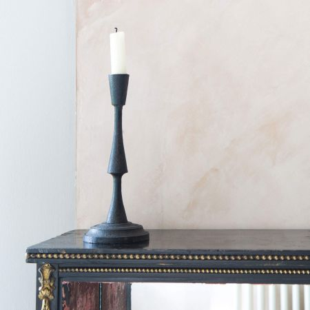 Tall Cast Iron Candle Holder