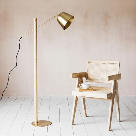 Cooper Brass Floor Lamp