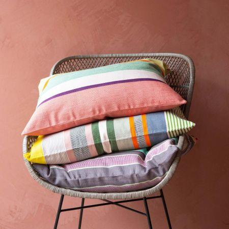 Grey Multi Stripe Cushion