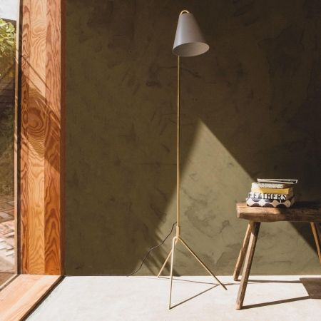 Asva Grey Floor Lamp