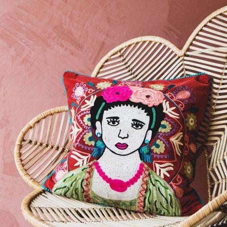 Medium Carnelian Velvet Mexicana Cushion