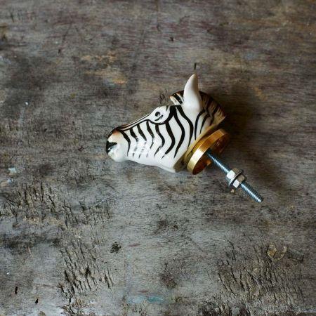 Zebra Head Knob