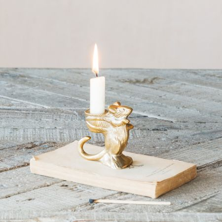 Cuthbert Mouse Candle Holder