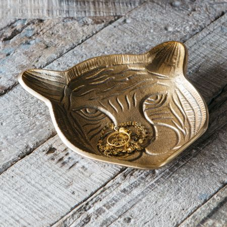 Gold Tyler Tiger Dish