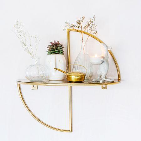Mondrian Brass Wall Shelf