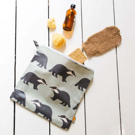 Kissing Badgers Toiletries Bag