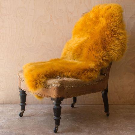 Single Mustard Sheepskin