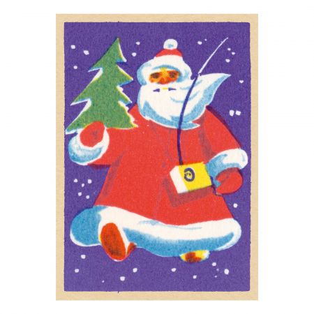 Set of Five Jolly Santa Claus Cards