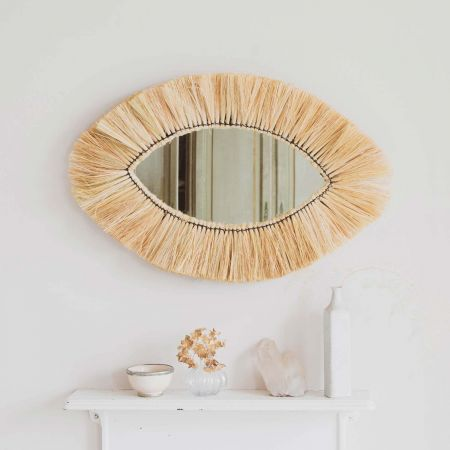 Kula Grass Oval Mirror