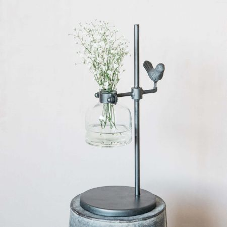 Test Tube Vase with Bird