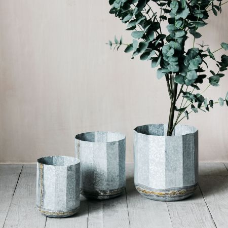 Set of Three Geometric Planters