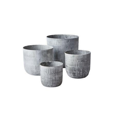 Set of Four Fenix Round Planters