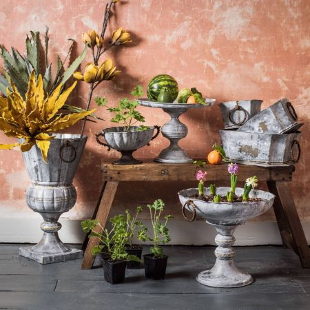 Set of Three Fenix Antique Planters