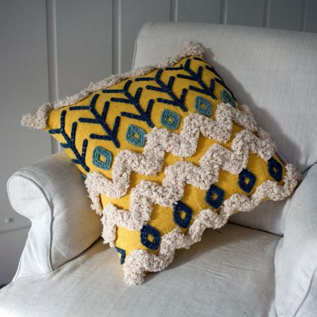 Kansa Yellow Cushion