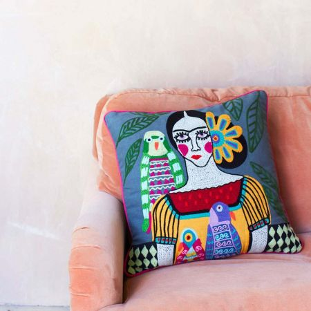 Mexicana Grey Cushion